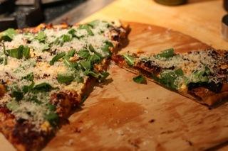pizza on peel